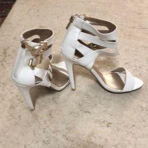 Sexy Bebe White Strap Heels